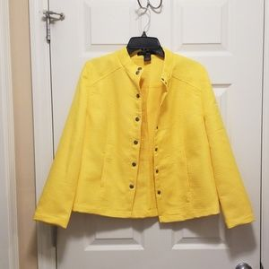 Jackets & Blazers - Scott Taylor petite yellow jacket